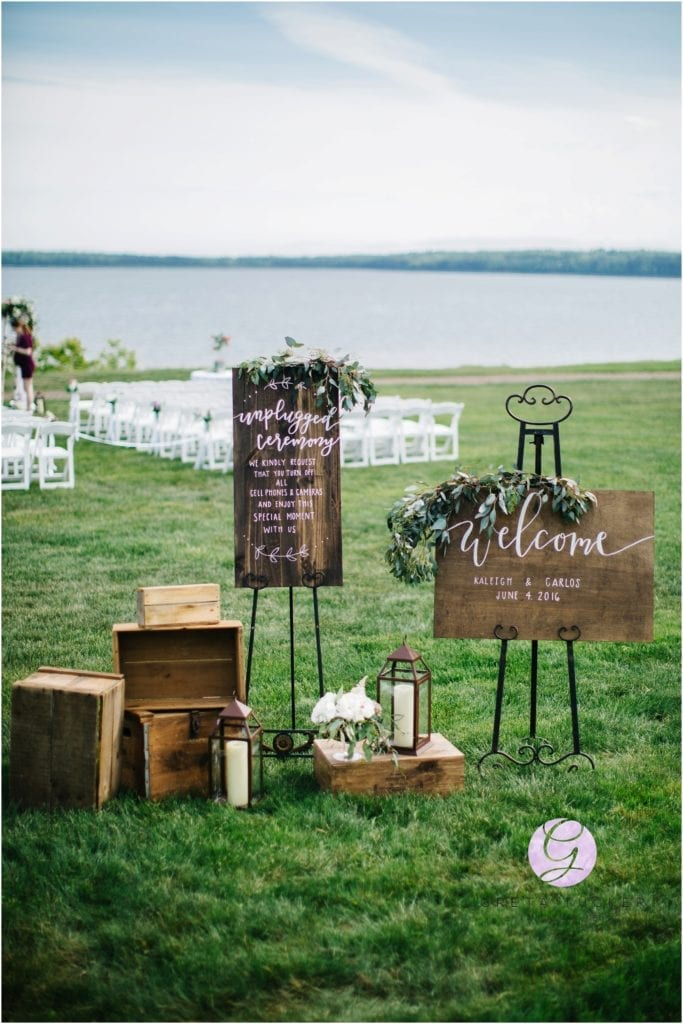 rustic wedding welcome sing