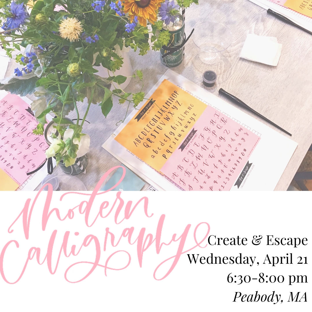 calligraphy classes near boston