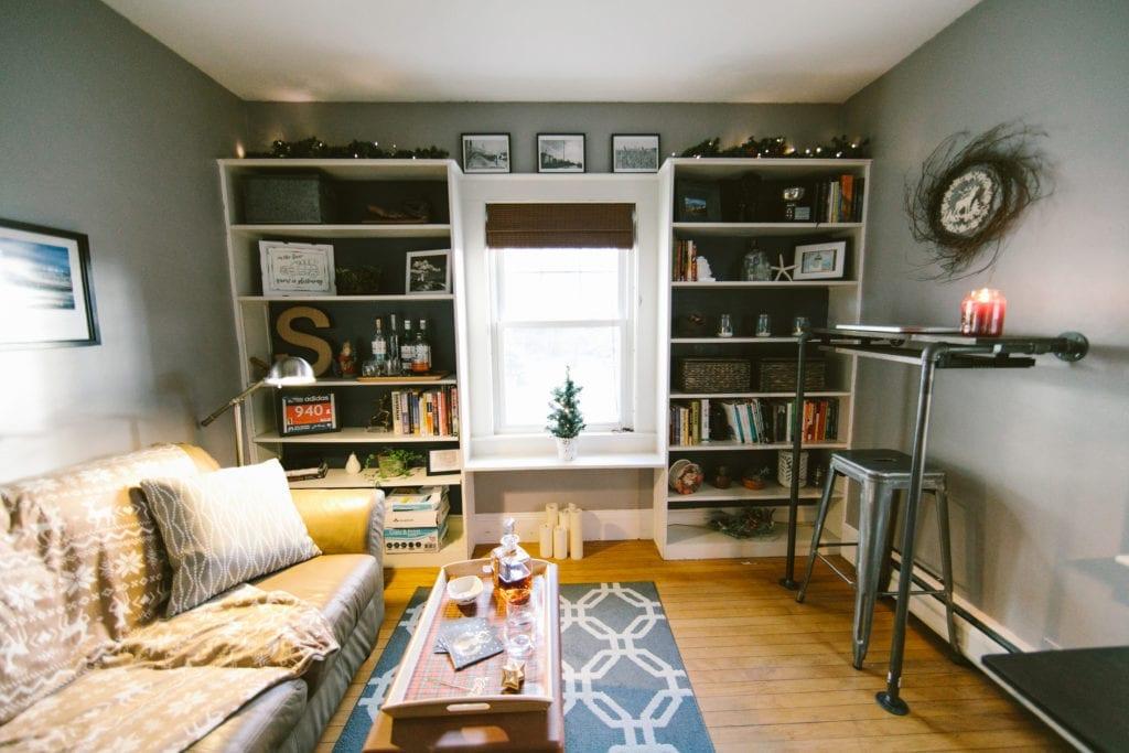 home office christmas decor