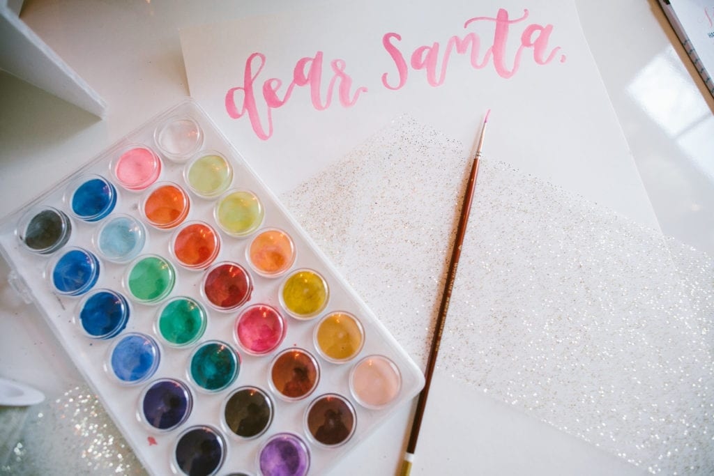 brush lettering watercolor lettering home office