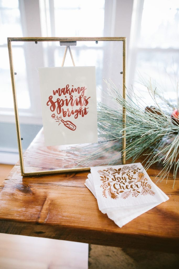 brush lettering christmas print home decor christmas house tour