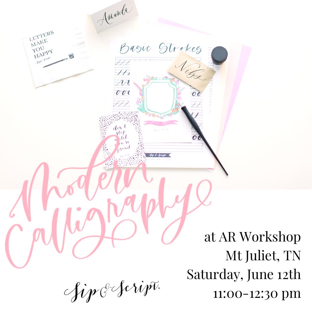 Nashville calligraphy classes