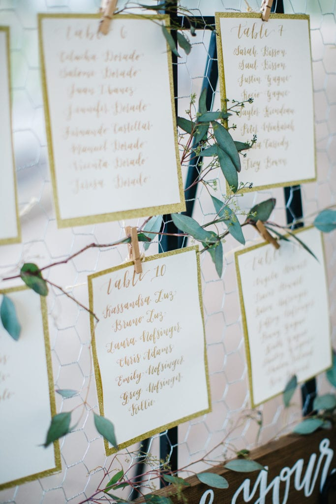 wedding calligraphy table seating escort display rustic