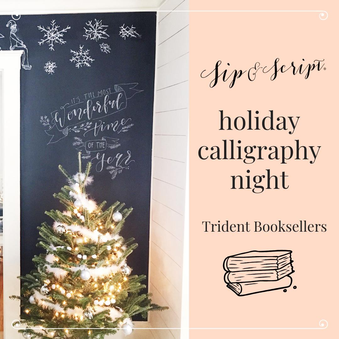 trident books calligraphy workshop