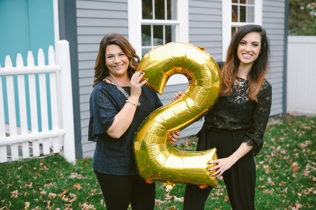 Meg Chaloner and Julie Mancini Sip & Script second birthday