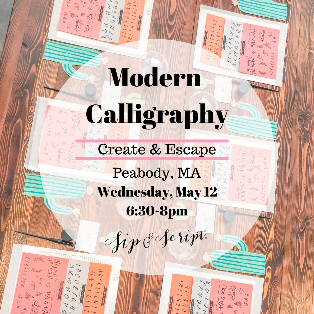 calligraphy class near boston