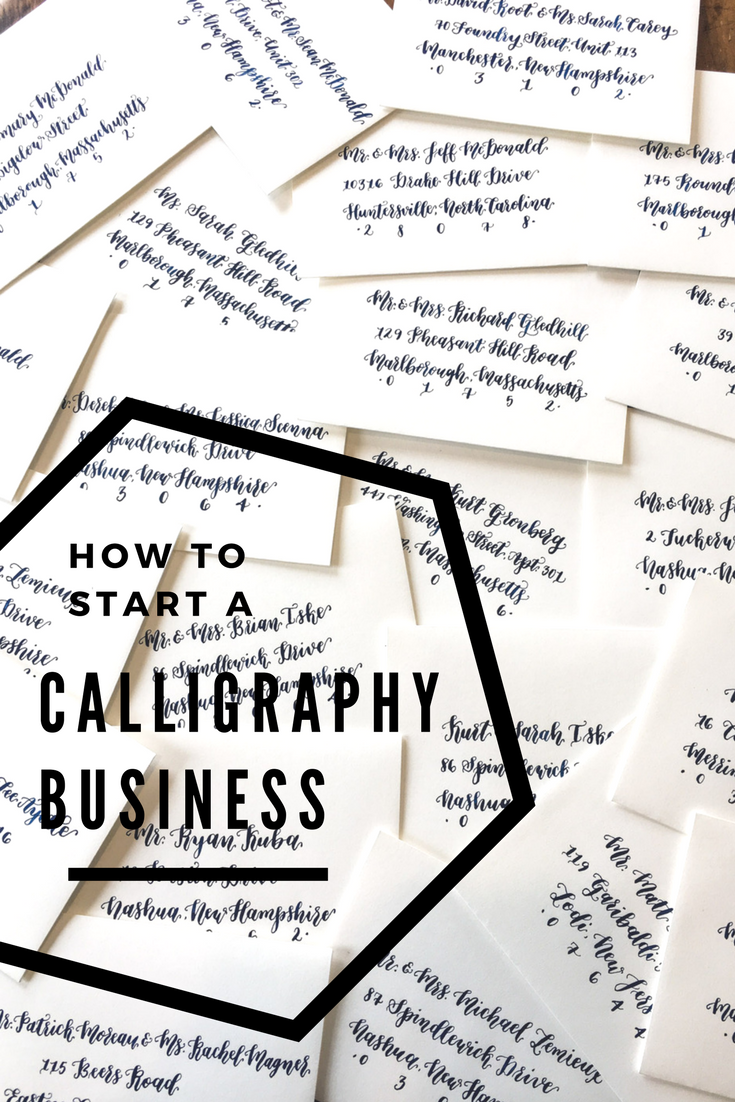 how to start a calligraphy business side hustle