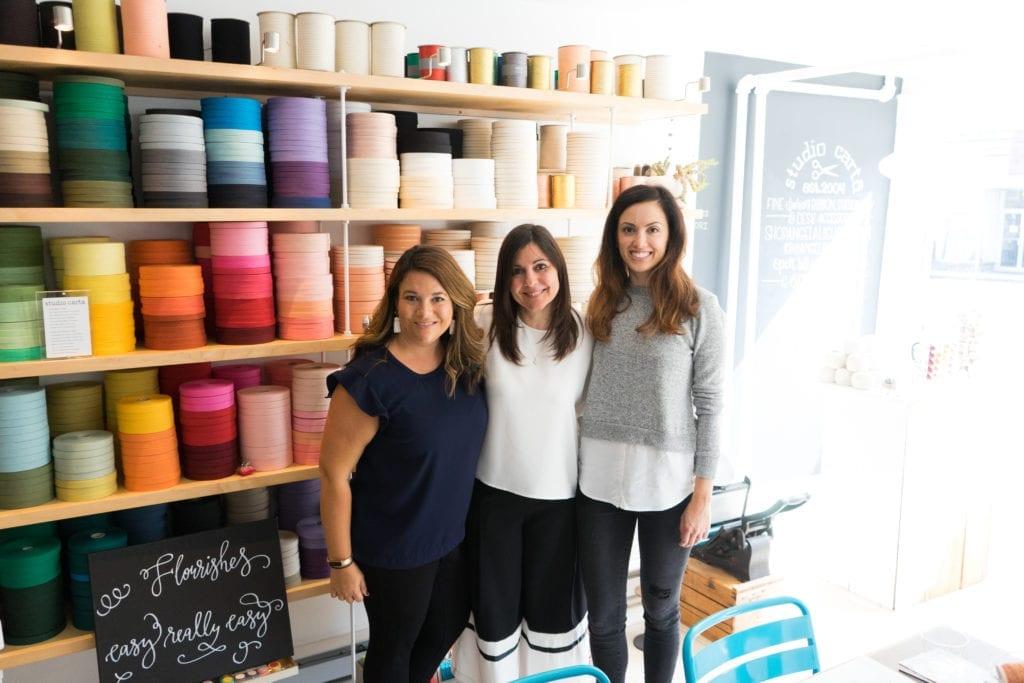 Meg Chaloner, Julie Mancini, Angela Liguori at Studio Carta